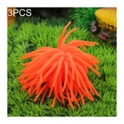 3 PCS Acuario Articulos Decoracion TPR Simulación Erizo Bola De Coral, Tamaño: M, Diámetro: 10 Cm (naranja)