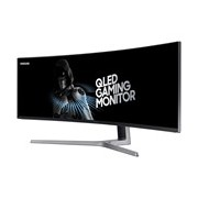 """Samsung C49HG90 124.2 cm (48.9"""") Double Full HD (DFHD) Curved Screen Quantum Dot LED Gaming LCD Monitor - 32:9 - Charcoal Black"""