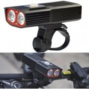 T20c 1000lm Luz Blanca LED Linterna Lampara Frontal Bicicleta De Carga USB Con 3 Modos