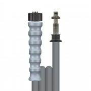 R+M de Wit 40m HD-Schlauch 1SN, DN08, grau, M22 Überwurf auf Stecknippel 11mm drehbar, max