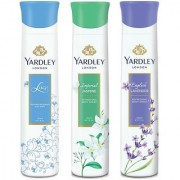 Yardley Jasmine Lace Satin English Lavender Deo (Pack of 3)
