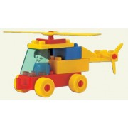 Peacock Kinder Blocks Helicopter Set