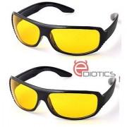 Ediotics Set of 2 Night Driving Sunglasses- Yellow