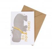 Dille&Kamille Carte avec enveloppe, hippo huge thanks