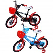 "Bicicleta pentru copii, cos plastic, roti ajutatoare, cadru otel, 16"",4-6 ani"