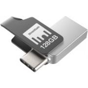 Strontium NITRO TYPE C 128 GB Pen Drive(Grey)