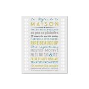 Mes mots deco Affiche adhesive regles de la maison gris clair 60x40cm