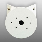 Round corner block for outdoor wall lights, white