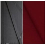 Kundan Sulz Gwalior Men's Executive Pure Cotton Linen Shirt Fabric & Fancy Formal Navy Blue Shining Trouser Fabric Combo Set ( Pack of 1 Pant and Shirt Piece )