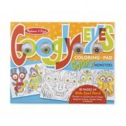 Bloc de colorat Monstruletii veseli, Melissa and Doug, 30 pagini