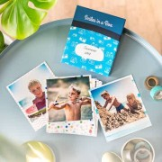 smartphoto Fotos in der Box Feder blau