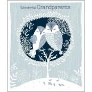 grote kerstkaart woodmansterne - wonderful grandparents - uilen