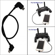 Three King Threeking Mavic pro & Spark Data Cable Remote Control Date Cable Micro USB to IOS 11.8 inch(30 cm)DJI Accessories