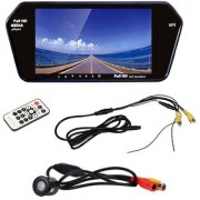 BRPEARL 7 Inch Bluetooth Car Video Monitor With Rear View Night Vision Camera for Tata Indigo CS