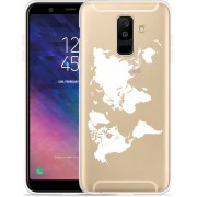 Galaxy A6 Plus 2018 hoesje World Map