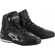 Alpinestars Faster-3 Motorcycle Shoes Black White 42