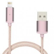 Cablu Magnetic Lightning iOS Rose Gold