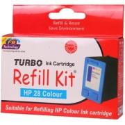 Turbo ink refill kit for HP 28 color ink cartridge