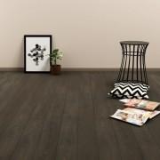 vidaXL Самозалепващи подови дъски, 4,46 м², 3 мм, PVC, тъмнокафяви