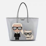 Karl Lagerfeld Women's Ikonik Shopper Bag - Silver