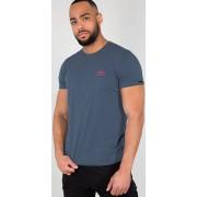Alpha Industries Basic T Small Logo T-Shirt Blå XL