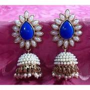 Aashiqui 2 Dark blue polki pearls Jhumka Earring