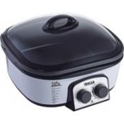 Inalsa Cook & Serve Travel Cooker, Slow Cooker, Deep Fryer, Air Fryer, Food Steamer, Egg Boiler, Rice Cooker(5 L, Black, Grey)
