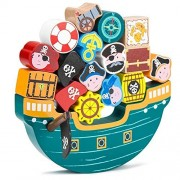 Playset Toy, 18pcs Blockbeard Balance Boat Balancing Kids Toys Playsets