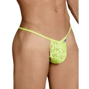 Candyman Lace Pouch Triangle G String Underwear Yellow 99371