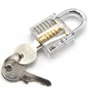 LHX Transparante Zichtbaar Pick Cutaway Praktijk Hangslot Lock Met Gebroken Sleutel Verwijderen Haken Kit Extractor Set Slotenmaker Tool