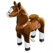 Pony Cycle Riding Brown with White Hoof Med Horse