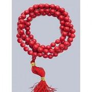 Jaipur Gemstone Natural Coral Beads Mala IGL Certified 100% Natural Unheated Moonga Mala For Unisex