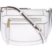 Michael Kors Julia Medium Messenger White Sling Bag