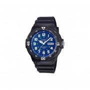 Reloj Analógico Hombre Casio MRW-200H-2B2 - Negro con Azul