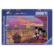 Puzzle Disney apusul la paris, 1000 piese Ravensburger