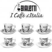 Set 6 cesti espresso Bialetti Carosello Duo