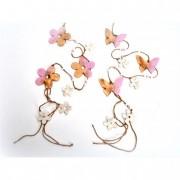 Girland pillangó virág fa 117cm pink