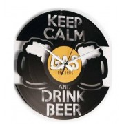 Disc'O'Clock Orologio Moderno Da Parete Drink Beer