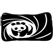 Snoogg panda circle 2520 Poly Canvas Student Pen Pencil Case Coin Purse Utility Pouch Cosmetic Makeup Bag