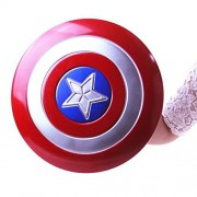 SAMANIS Captain America Light-Emitting and Sound Cosplay Toy Metallic Shield (Blue and Red, Plastic)