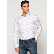 Selected Camisa manga larga cuello italiano estampado hojas SELECTED blanco estampado XXL