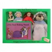 Resigilat Set Papusi De Mana Scufita Rosie The Puppet Company