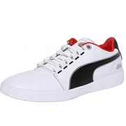 Puma Men's Bmw M Grille Lo White, Black and High Risk Red Running Shoes - 10 UK/India (44.5 EU)