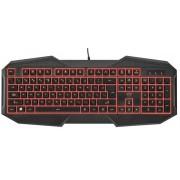 Tastatura Gaming Trust GXT 830, Iluminata, USB (Negru)