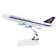 24-Hours Singapore Airlines Boeing 747 Alloy Metal Model Aircraft Die-cast 1:400