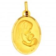 Orféva Médaille Vierge à l'enfant Ovale