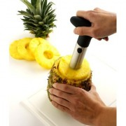 Evershine Pineapple Corer Slicer Peeler Heavy Stainless Steel Fruit Pineapple Corer Slicer Peeler Kitchen Cutter Knife