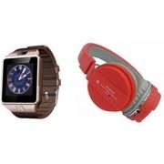 Mirza DZ09 Smart Watch and SH 10 Bluetooth Headphone for LG OPTIMUS L7 II(DZ09 Smart Watch With 4G Sim Card Memory Card| SH 10 Bluetooth Headphone)