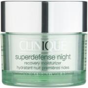 Clinique Superdefense™ creme hidratante de noite antirrugas para pele mista e oleosa 50 ml