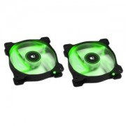Ventilator 120 mm Corsair SP120 Green LED Twin Pack